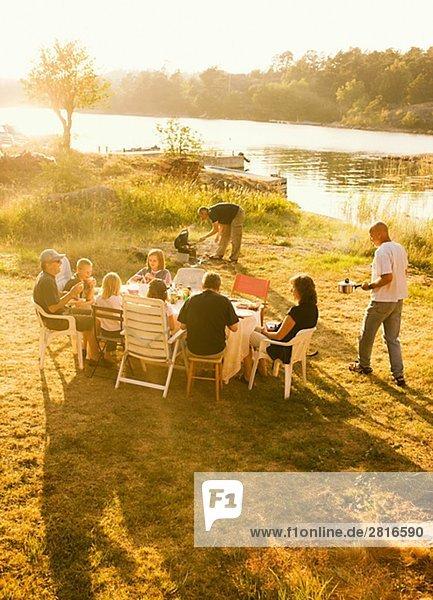 Sommer Picknick Nacht