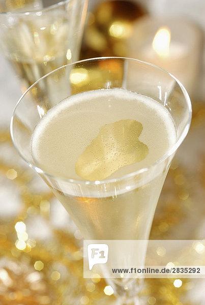 Glas Champagner