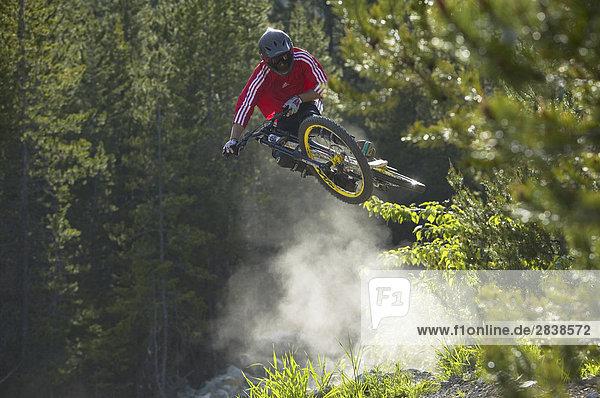 Moutain-biking in Pemberton  British Columbia  Kanada.
