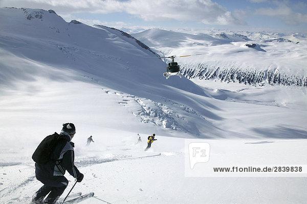 Heli Ski  Küste Berge  British Columbia  Kanada.