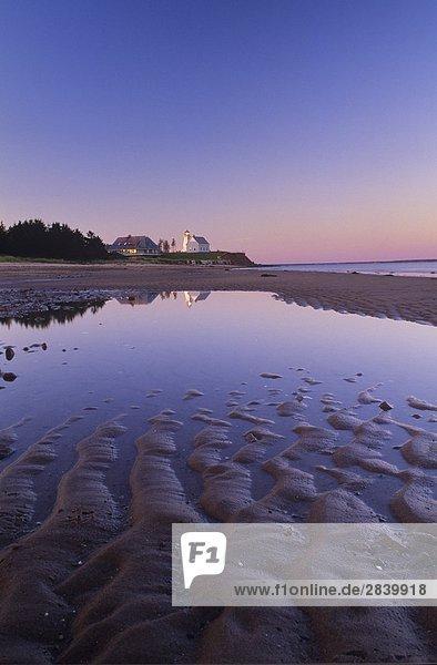 niedrig Gezeiten Leuchtturm Insel Ländliches Motiv ländliche Motive Kanada Prince Edward Island