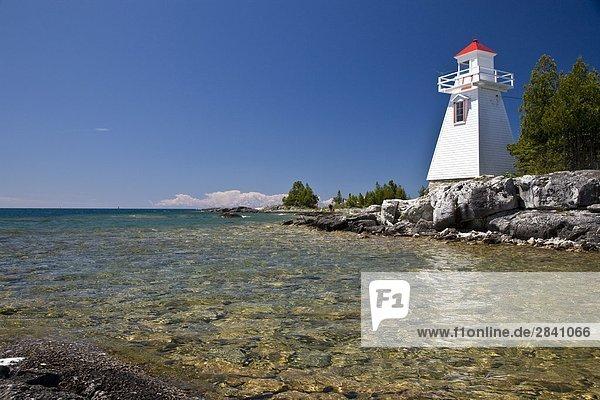 Leuchtturm am South Baymouth  Manitoulin Island  Ontario  Kanada.