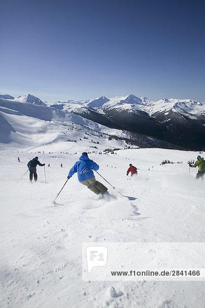 Ski Berge Whistler Backcountry  British Columbia  Kanada.