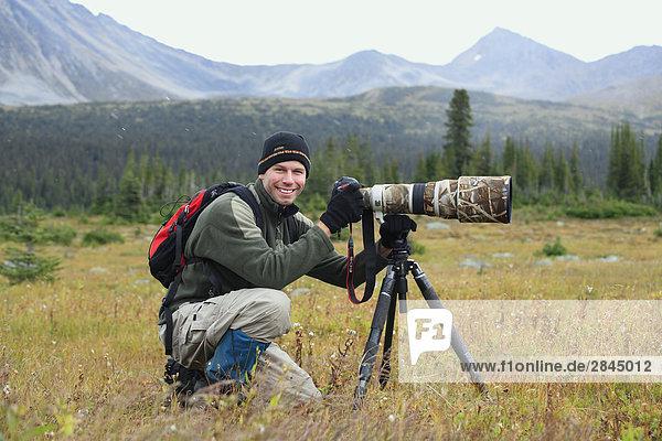 Professionelle Naturfotograf  Tonquin Tal  Jasper-Nationalpark in Alberta  Kanada