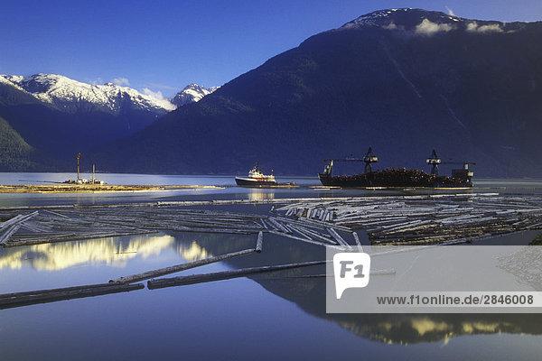 Bella Coola Harbour  British Columbia  Canada.
