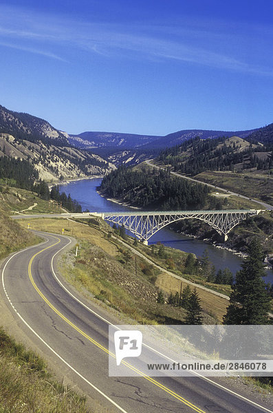 Highway 20  Sheep Creek Bridge  Fraser River  Cariboo-Chilcotin Region  British Columbia  Kanada.