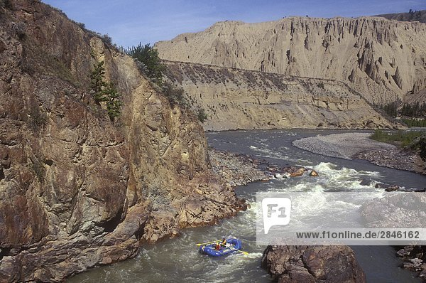 Rafting auf den Chilcotin River  British Columbia  Kanada.