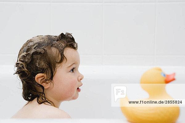 Child in the bathtub