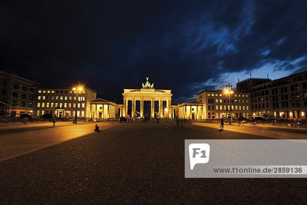 Germany  Berlin  Brandenburg Gate at night