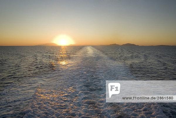 Greece  Ithaca  Ocean at sunset