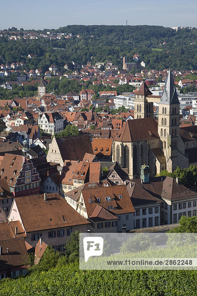 Deutschland  Baden-Württemberg  Esslingen  Blick auf das Stadtbild