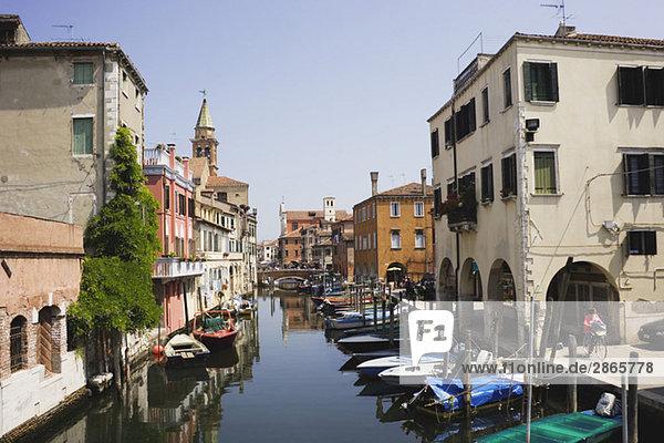 Italy  Chioggia  Vena Canal  Fishing harbor