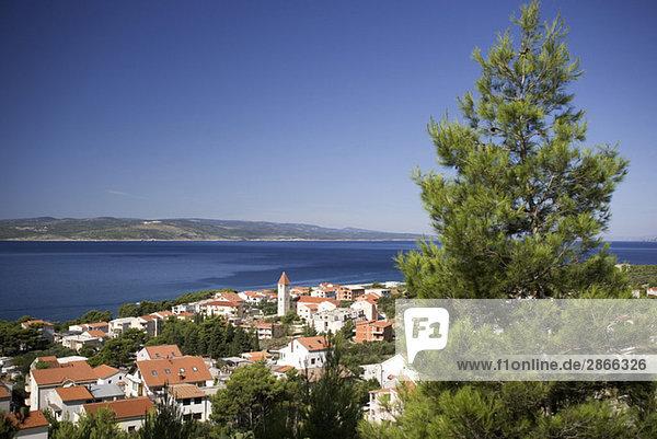 Croatia  Makarksa Riviera  Promajna  Seaside town