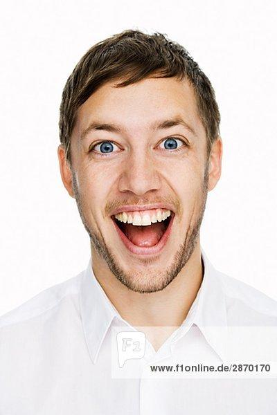 Portrait einer lächelnd mann Schwedens.