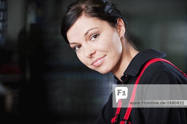 Portrait von weiblichen mechanic