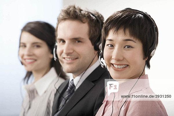 Eine Reihe von Telefongesellschaften