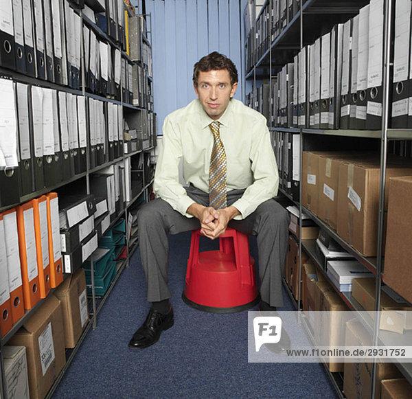 Porträt eines Büroangestellten