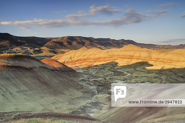 Sonnenuntergang auf der Painted Hills Unit John Day Fossil Betten Nationaldenkmal  Oregon