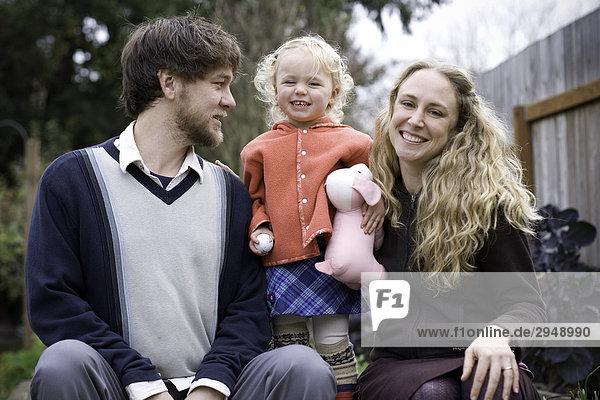 Family Portrait  im Freien.