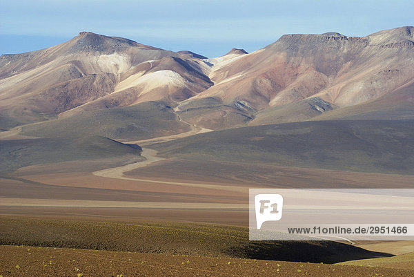 Cerro de Siete Colores (Mountain of Seven Colours)  Uyuni Highlands  Bolivia