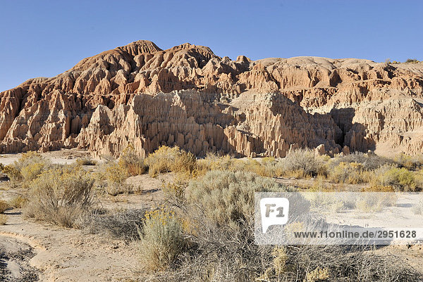 Felsformation im Cathedral Gorge State Park bei Pioche  Detail  Nevada  USA