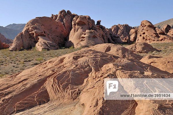 Rote Sandsteinformation  Valley of Fire State Park  Nevada  USA