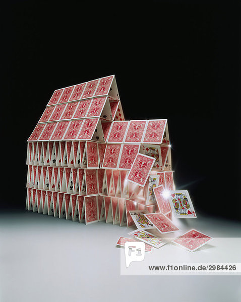 the house of cards is falling down