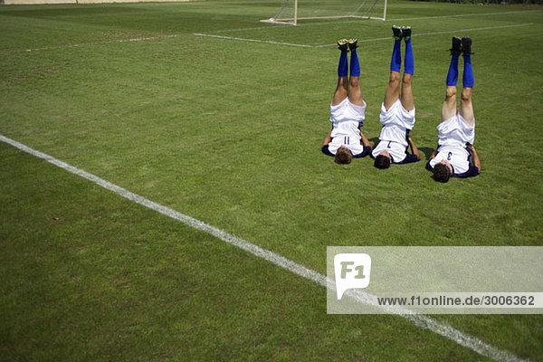 Fußballspieler trainieren