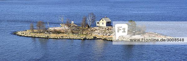 Panorama Außenaufnahme Wasser Europa Westeuropa europäisch Tag Ozean Meerlandschaft Reise Insel Erhöhte Ansicht Aufsicht Finnischer Lapphund Ostsee Baltisches Meer Finnland Nordeuropa freie Natur Skandinavien skandinavisch Tourismus
