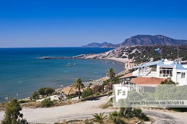 Blick auf den Paradise Beach  Kos  Griechenland