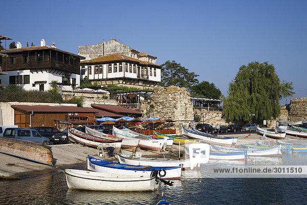 Southern harbour  Town museum Nesebar  Black Sea  Bulgaria