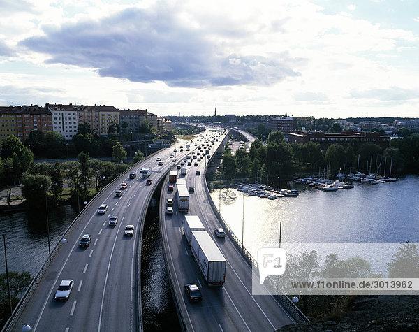 Stockholm Hauptstadt Autobahn