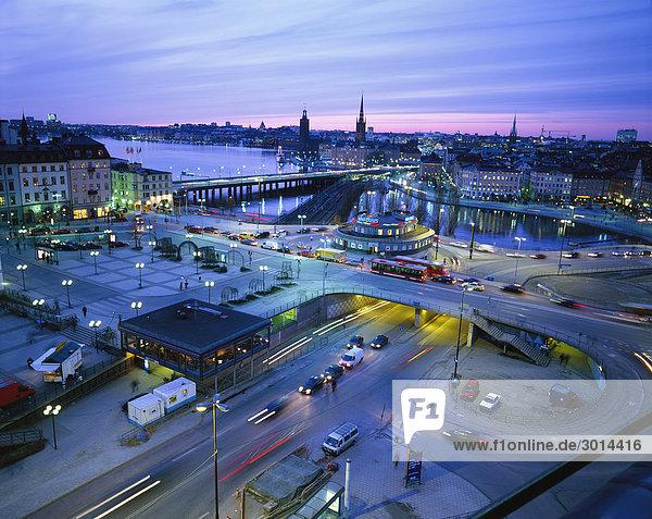 Blick über Slussen Stockholm