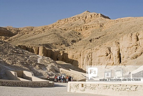 Accesses to the tombs in the Valley of the Kings  Luxor  Egypt