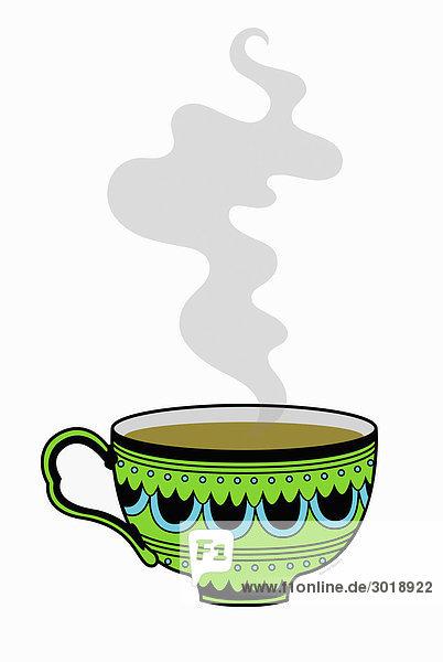 Dampfende Tasse Tee