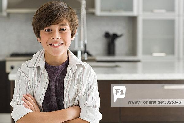 Portrait of a smiling hispanic boy