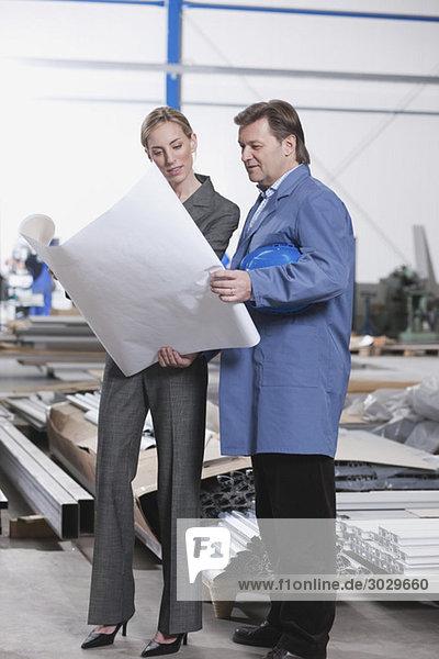 Deutschland  Neukirch  Architektin und Meisterin in der Industriehalle