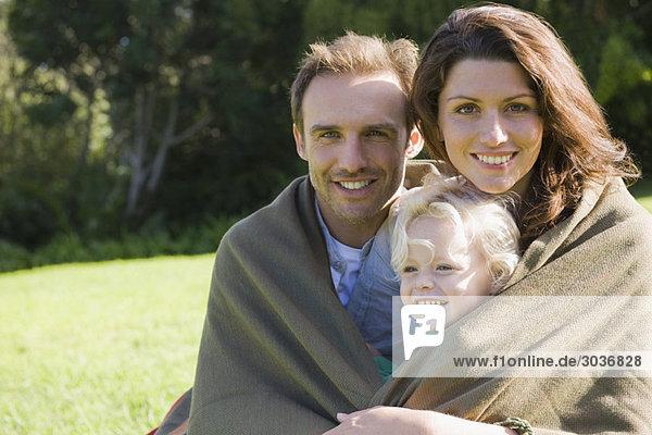 Porträt einer lächelnden Familie