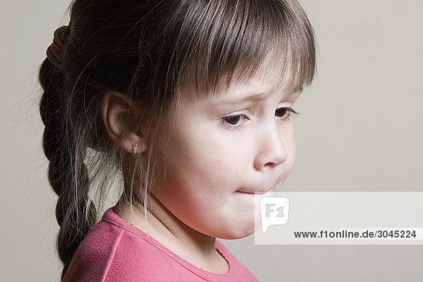 Porträt von traurig junges Mädchen