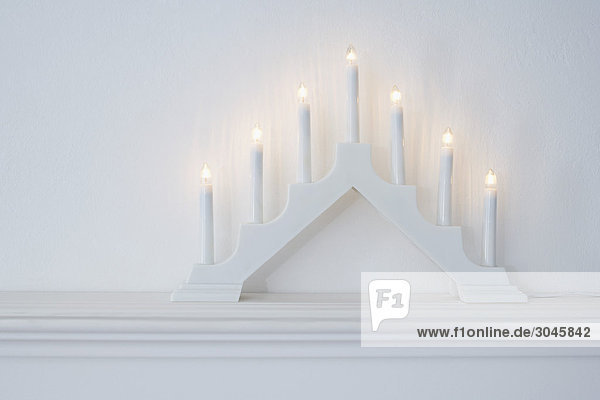 still life of candle arch