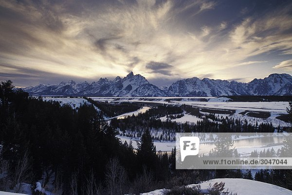 USA  Wyoming  Grand Teton National Park  Snake River View.