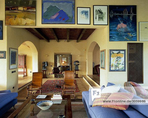 Zimmer Dekoration Ansicht Gemälde Bild Wohnzimmer