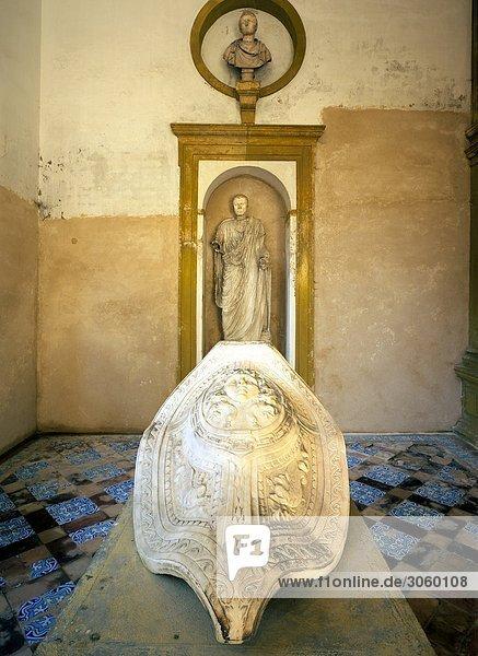 Skulptur Hintergrund Statue Sevilla Tisch Spanien