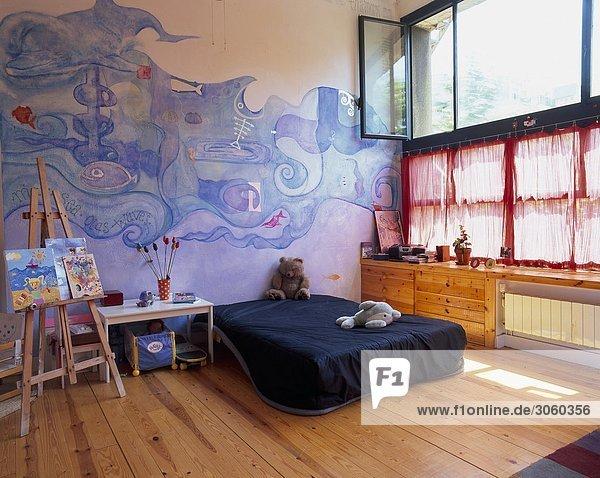 Zimmer Ansicht Wandbild