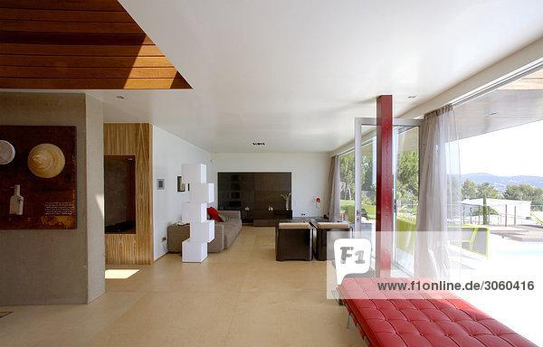 Zimmer Ansicht Polsterung Wohnzimmer Möbel