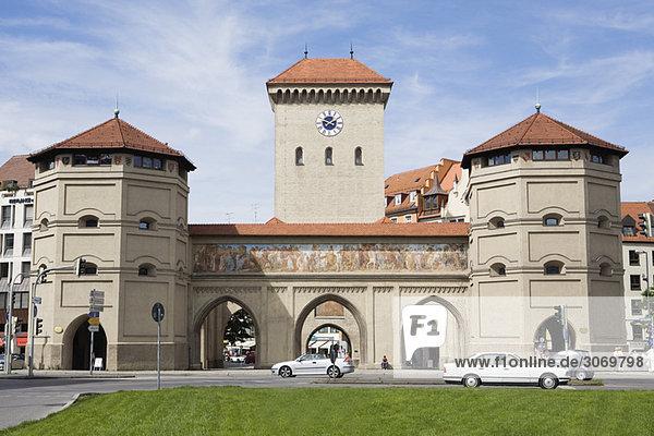 Isar Tor Platz  Altstadt Zentrum Gebäude  München  Deutschland