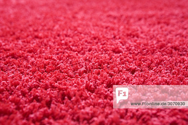 Nahaufnahme des roten Teppichs