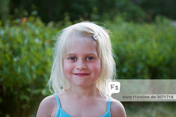 Mädchenbildnis skandinavischen Schweden.