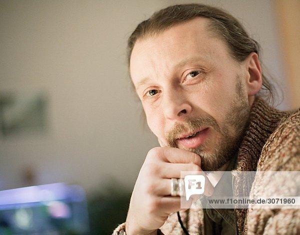 Porträt von ein bärtiger Mann Schweden.
