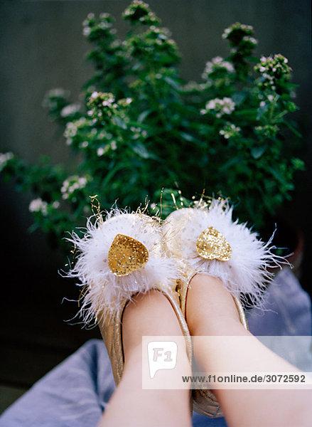 Füße mit Prinzessin Schuhe Schweden Füße mit Prinzessin Schuhe Schweden